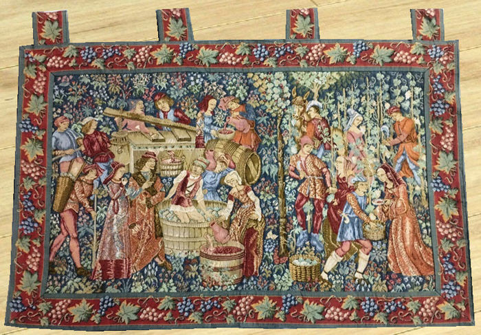 Vintage Tapestry - Second Half of 20th Century - 99 cm x 63 cm