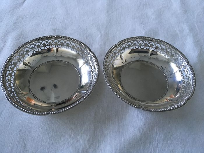 silver pair of dishes . Germany, circa 1930/1950