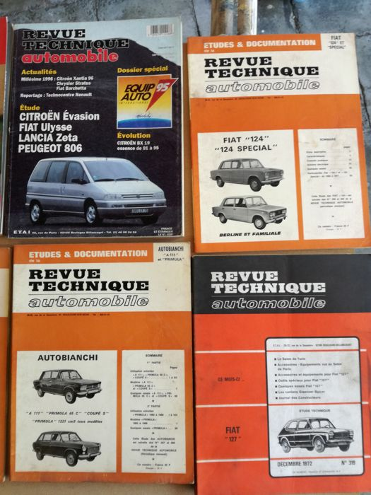 Brochures/ Catalogues - 10 RTA auto italiennes - 1964-1997 (10 items)