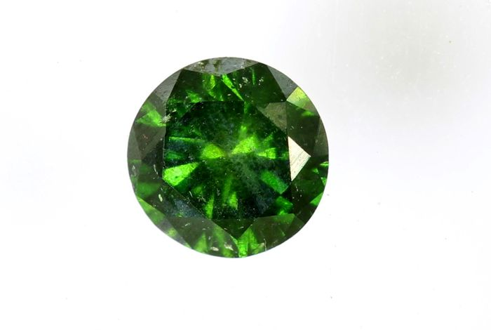 Fancy Deep Green  Diamond - (Colour Treated) - 0.27 ct - * NO RESERVE PRICE *