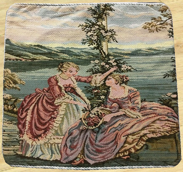 Vintage French Tapestry - Second Half of 20th Century - 47 cm x 48 cm