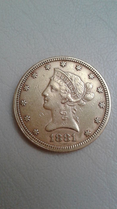 VS - 10 Dollars 1881 Liberty Head - Goud
