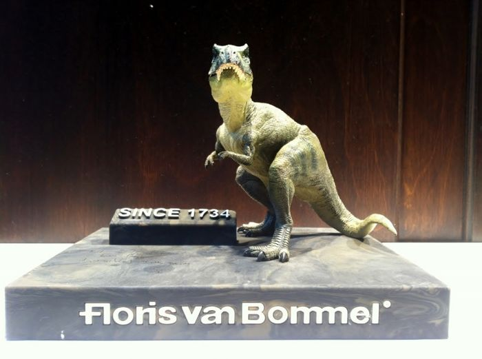 Floris van Bommel - rubber plateau with dinosaur and text - late 20th century