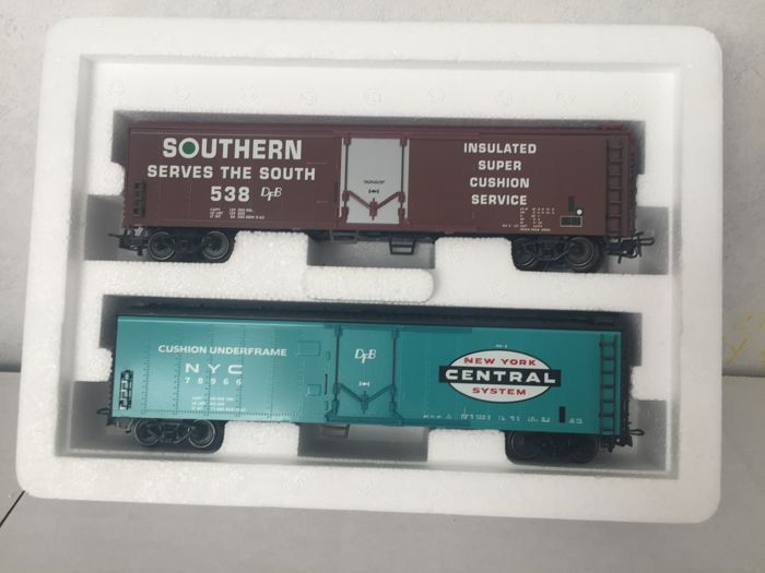 Märklin H0 - 47785 - Freight carriage - 2-delice set of boxcars from the American railways - Alaska Railroad