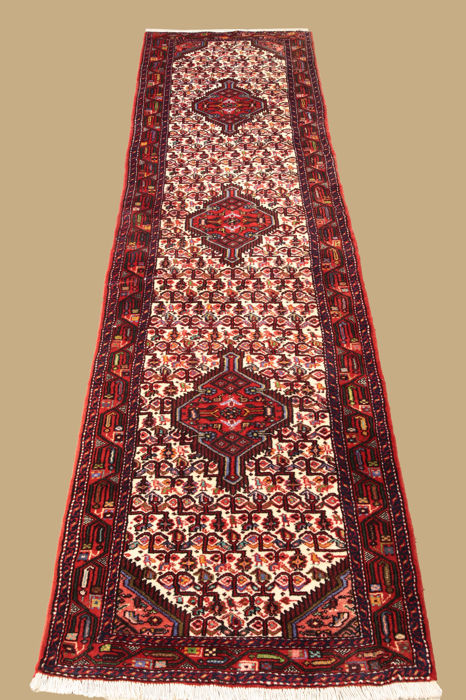 Hand-knotted Persian carpet runner, Hamadan, approx. 290 x 80 cm