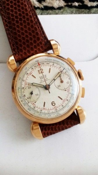Britix watch Co. - Chronograph 18 kt Gold aus 1940 - 3914 - Heren - 1901-1949