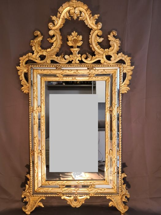 Large Venetian mirror, Italy, 17th century