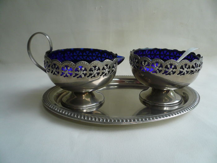 Celtic plate sugar + creamer set