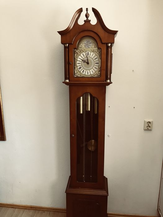 Beautiful longcase clock with a half-hourly striking mechanism Tempus Fugit - 2nd half 20th century
