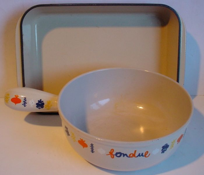 LE CREUSET – two objects of enamelled cast iron.