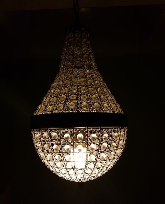 Chandelier of glass crystal - recently