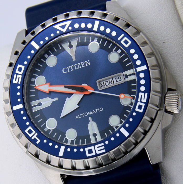 "Citizen - Automatic Diver 100M ""Blue Dial"" - New - Heren - 2017"