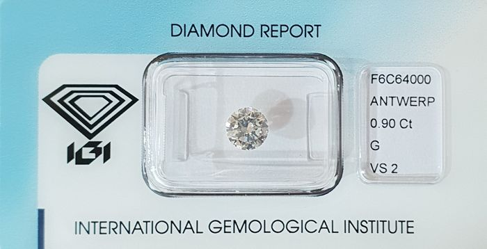 Diamond - 0.9 ct - Brilliant - G - VS2