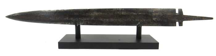 Ancient Iron Age Celtic Period Ijzer Sword on Stand - 39cm