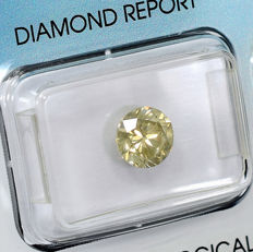 Natural Fancy Light Brownish Yellow Diamond - 1.45 ct, Si1