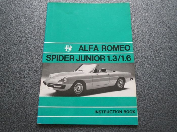 Books - Instructieboekje Alfa Romeo Spider  1.3 /1.6  - 1972-1972