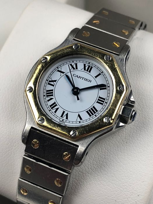 Cartier - Santos Octagon Lady Automatic - 090772813 - Women - 1990-1999