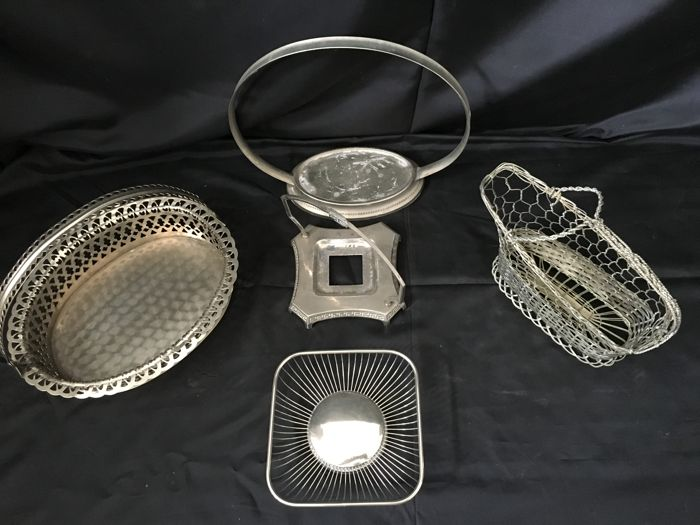 5 Silver Plated Baskets