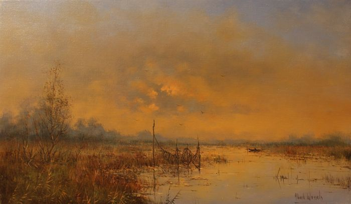 Albert Wessels (1938-2010) - Hollands landschap
