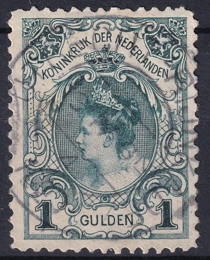 Netherlands 1898 - Inaugural seal Queen Wilhelmina - NVPH 49