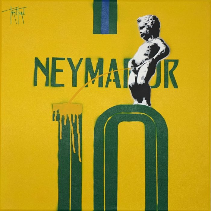 Truteau - The Manneken-Pis on Neymar