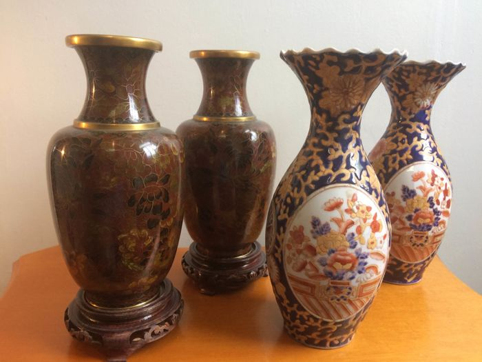 Two Pairs Of Ornate Vases Catawiki