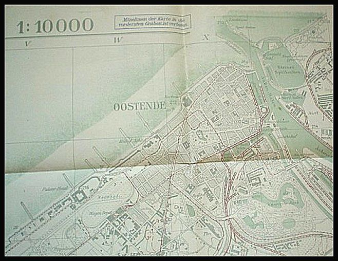 German Staff map - Oostende - 1:10000 - 1917