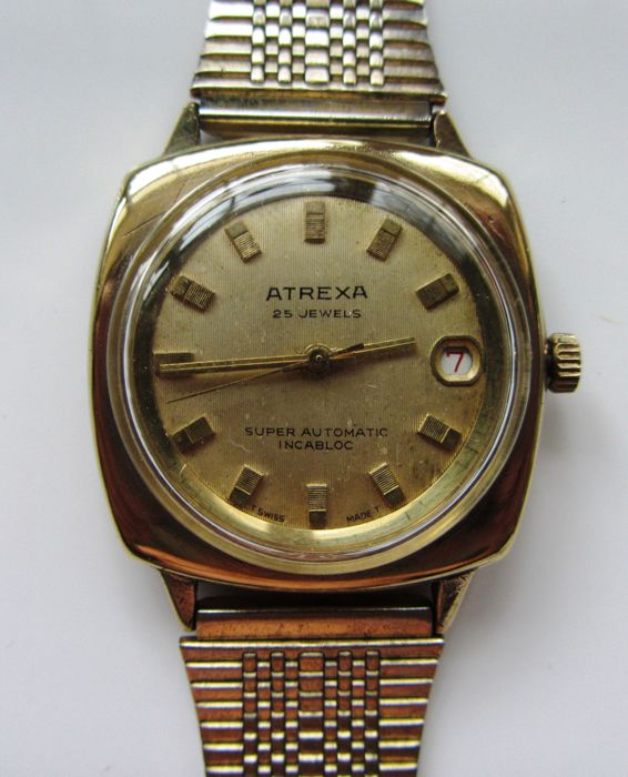 Swiss Made Atrexa - Super Automatic Incabloc - 25 jewels, ETA 2772 - Unisex - 1960-1969