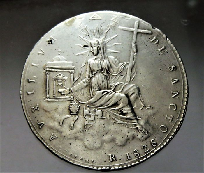 Italy - Papal States - 1 Scudo 1826 I tipo Leone XII  - Silver