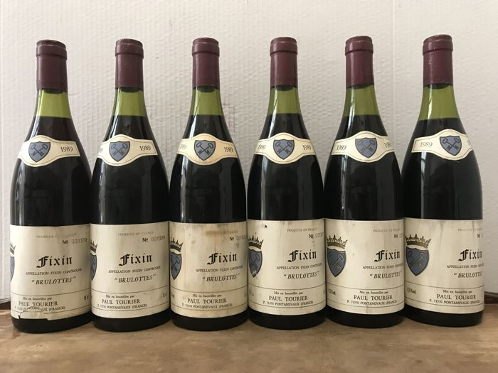 "1989  Fixin "" Brulottes "" , Paul Tourier  /  Total 6 Bottles"