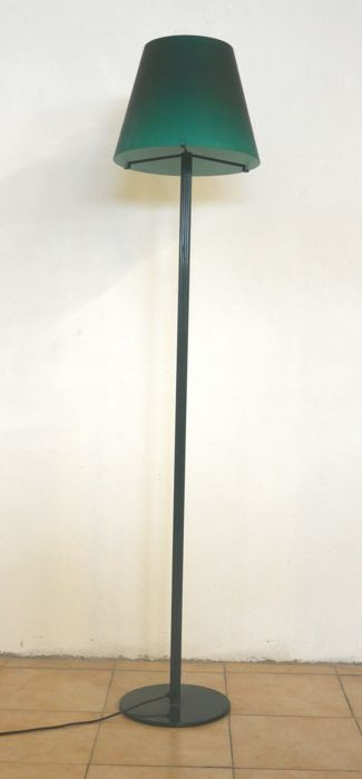Salviati - Floor lamp in layered and frosted green glass
