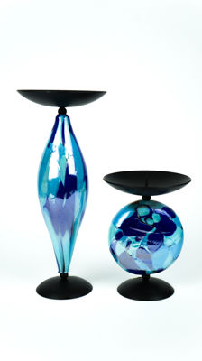 Francesco Fabris (Murano) - Pair of candle holders
