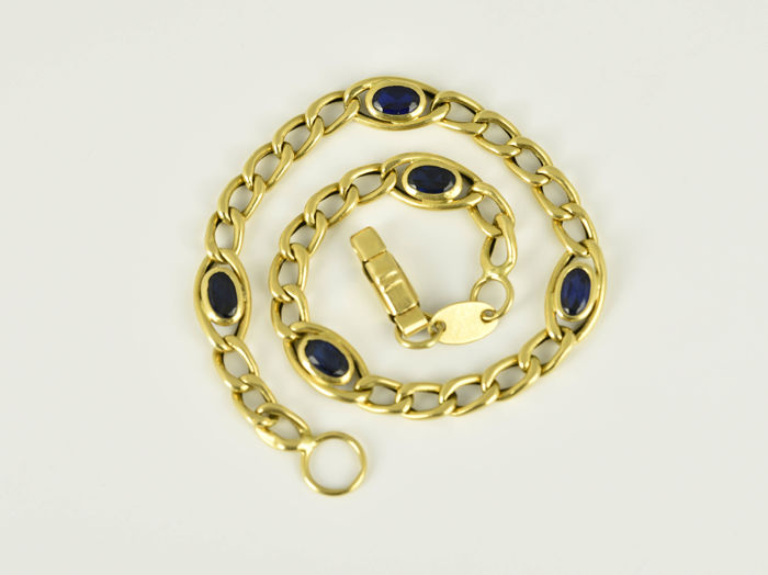 Bracelet of gold 18 kt with sapphires