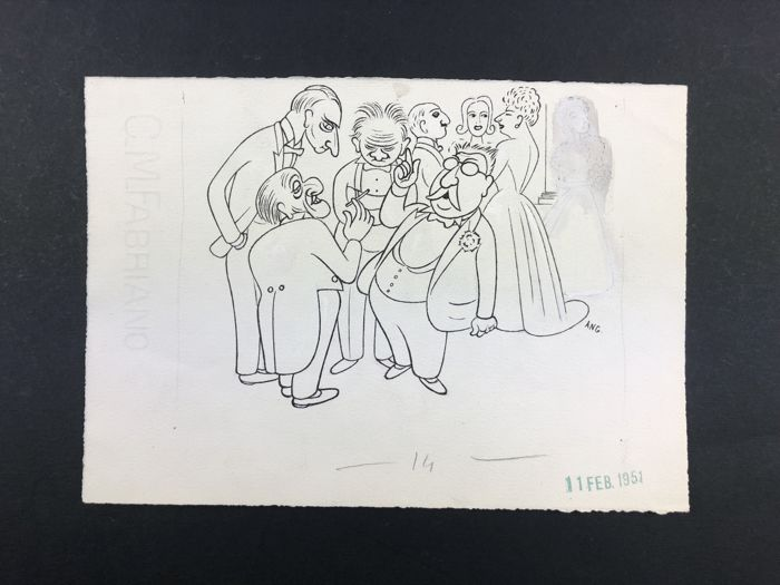 "Bruno Angoletta - original Illustr. x ""Candido"" - Loose page - Other - (1951)"