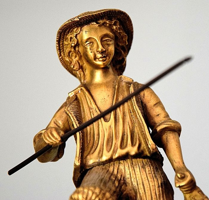 """""""The fisherman"""", French gilt bronze - first half of the 20th century"""