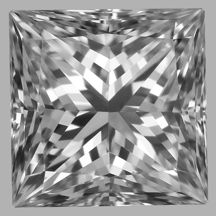 0.70ct  Princess Brilliant  D VS2  GIA# 5192057286