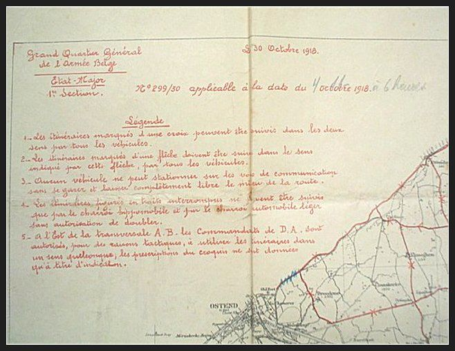Belgian army staff / Route maps Bruges and surrounding area - 1:100000 - 1918
