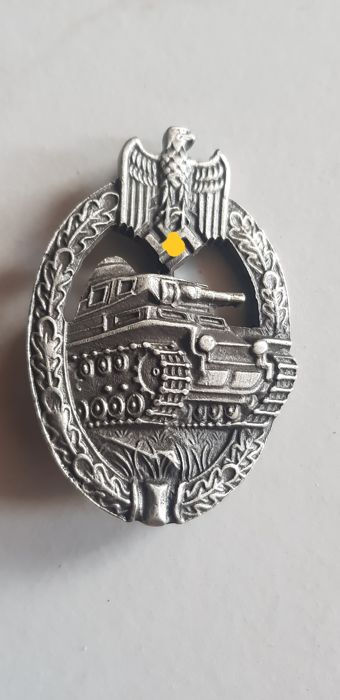 Badge Panzer Argent