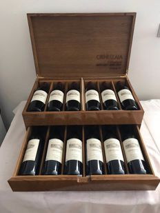 Ornellaia horizontal collection case 2000, 2001, 2002 & 2003 - 12 bottles