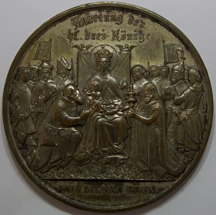 Duitsland - Medal 1880 Shrine of the Three Kings at Cologne Cathedral - Zilver
