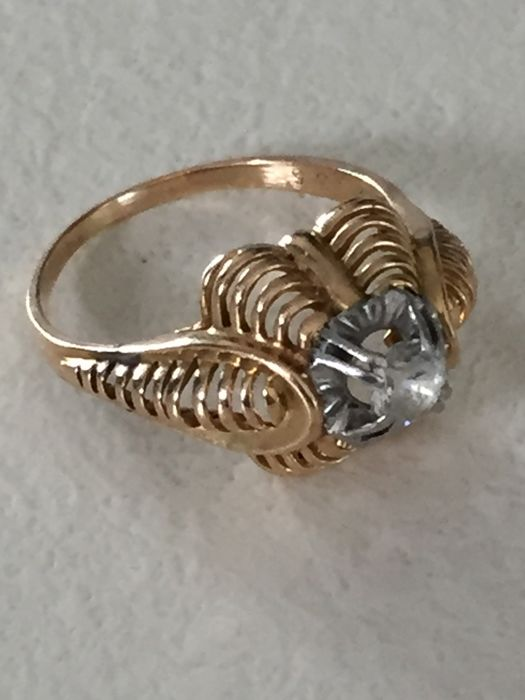 Cocktail ring in 18 kt Gold