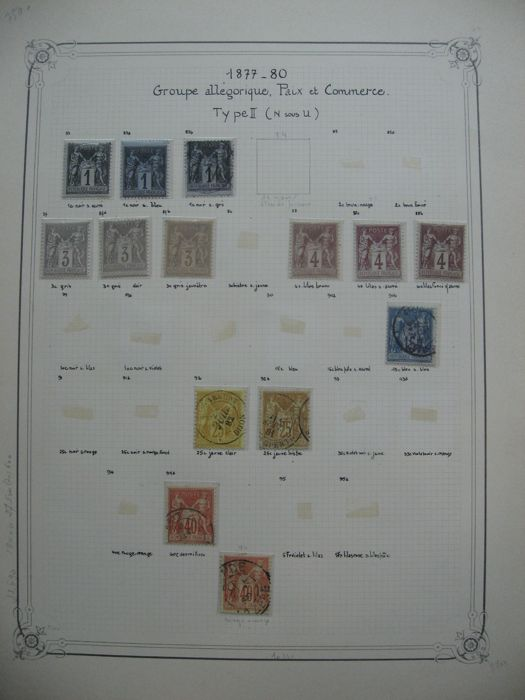 France 1877/1890 - Classic stamp collection