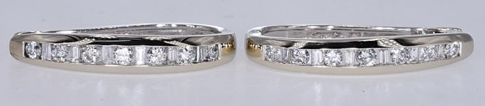 1.49 Ct Diamond half hoop earrings NO RESERVE price!