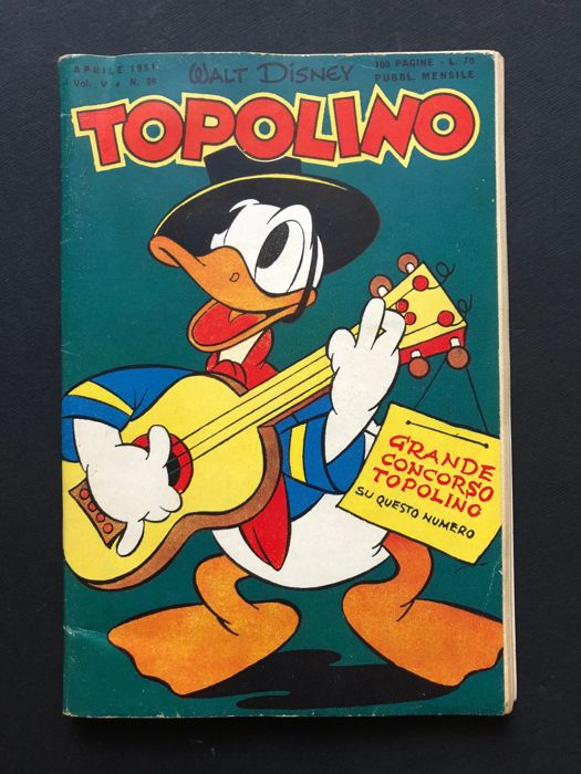 Topolino #26 - con bollino - Stapled - First Edition - (1951)