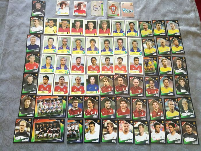 Panini - World cup Italy 90 + Euro 2000/2004 - 72 stickers in total.