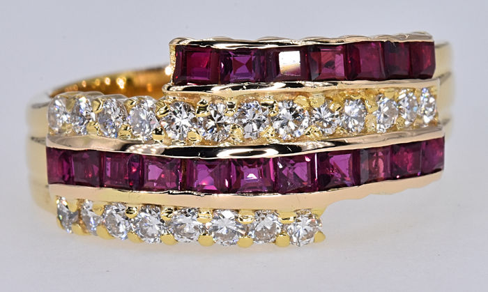 2.02 Ct Ruby with Diamonds ring NO RESERVE price!