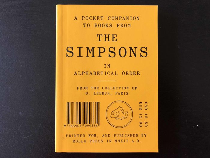 Olivier Lebrun - A Pocket Companion to Books from The Simpsons - 2012
