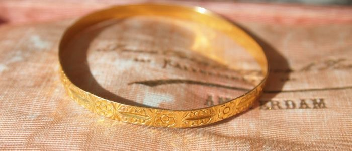 Antique handmade gold bracelet 22 kt - Italy