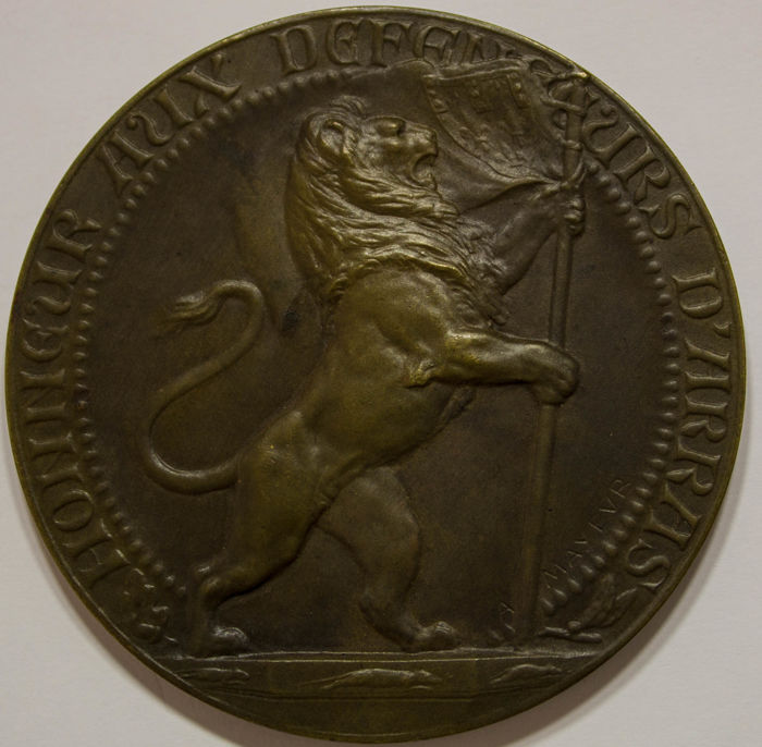 Frankrijk - Medal for the Defenders of Arras, by A. Mayeur 1914-1918 - Other