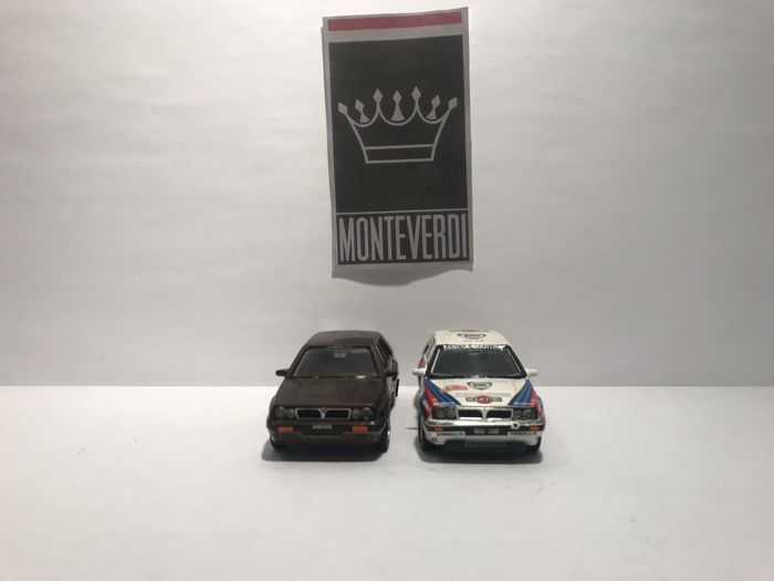Vitesse - 1:43 - Lot with 2 models: Lancia Delta integrale - Circuit and street - Gemaakt in Portugal
